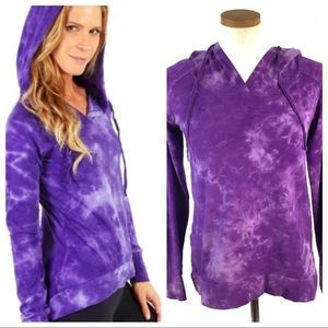 Earth Yoga Organic Purple Tie Dye Hoodie  Small